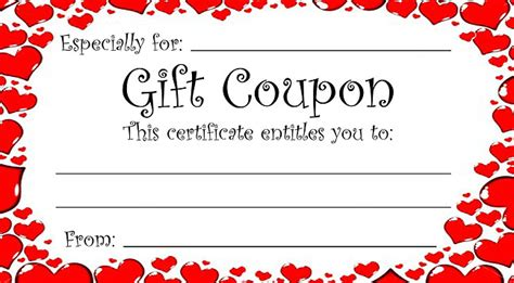 make cards coupon code theme gift coupon for s day or any time