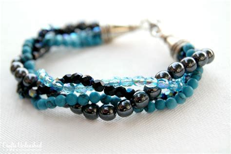 to make beaded jewelry how to make a bracelet with twisted bead strands
