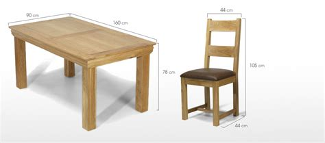 table size for 6 constance oak 160 cm dining table and 6 chairs quercus