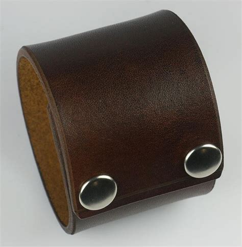 leather wristbands for plain brown 2 quot wide leather wristband leatherpunk