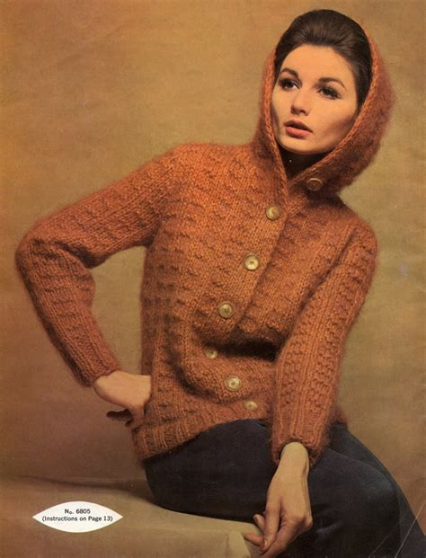 vintage knits vintage knits 1962 hooded mohair cardigan the chawed rosin