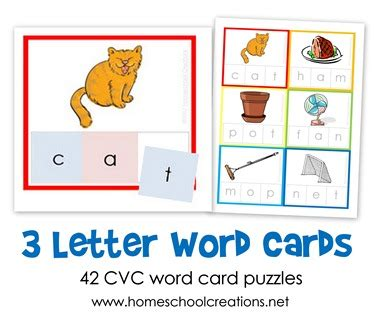 letter cards for words three letter word cards free printable