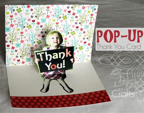 how to make a pop up thank you card kit s crafts