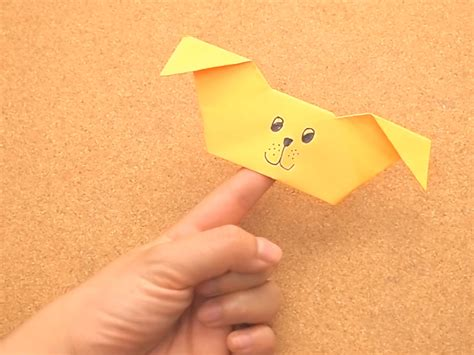 origami finger puppets how to create an origami puppy finger puppet 15 steps