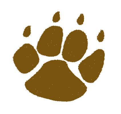 bear paw prints clip art clipart best