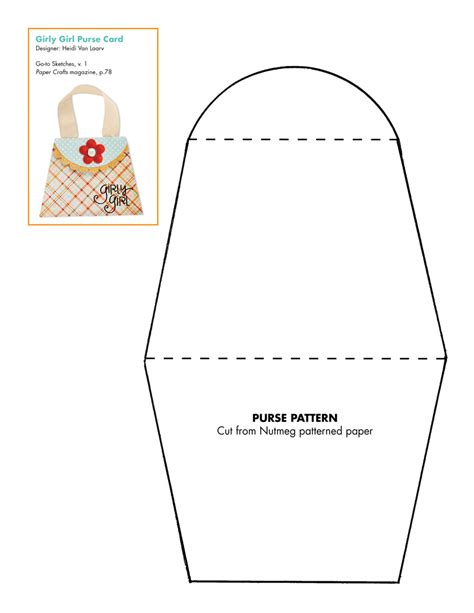 free paper craft patterns 7 best images of free printable paper purse templates
