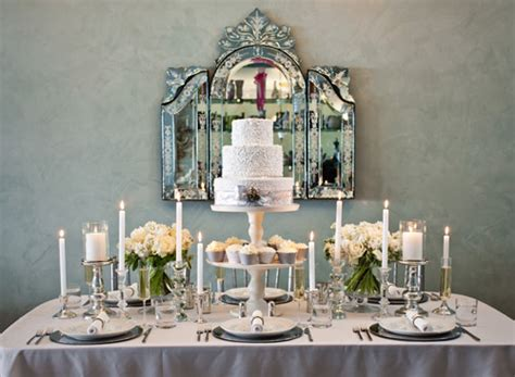 table top decor chic silver and white winter table top decor ideas