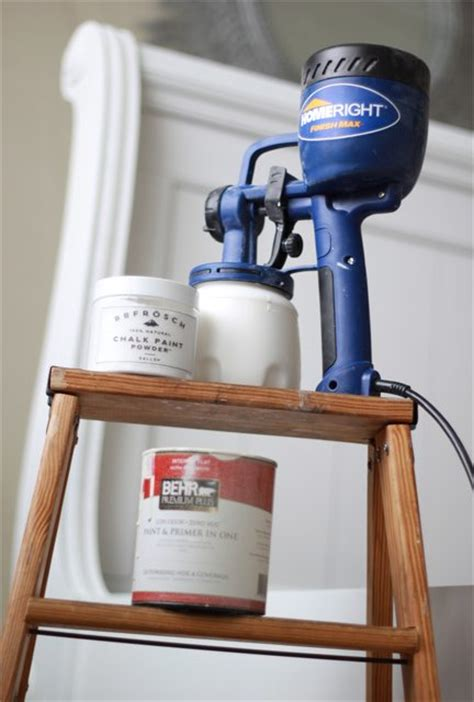 diy chalk paint in a sprayer how to paint a headboard with chalk paint homeright