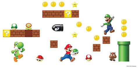 mario wall sticker nintendo mario bros build a wall stickers