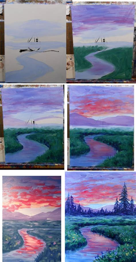 acrylic painting step by step tutorial best 25 step by step painting ideas only on