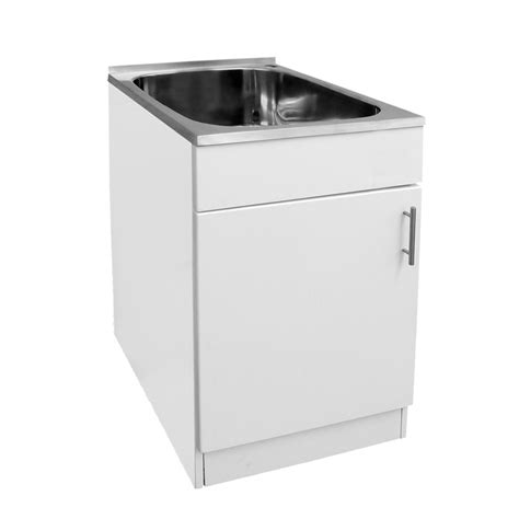 laundry sink with cabinet mini laundry trough 45l cabinet the sink warehouse bathroom kitchen laundry the sink