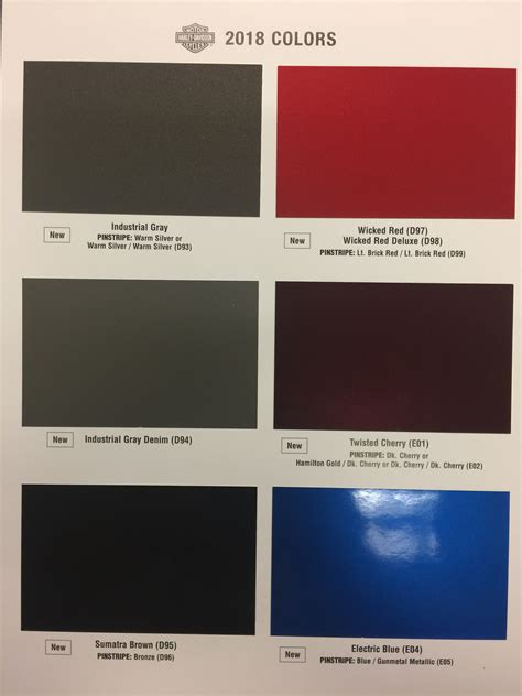 paint colors harley 81 harley paint color chart anyone see the new 2018