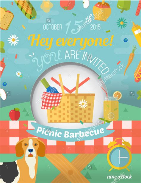 picnic invitation template red and white picnic cloth and