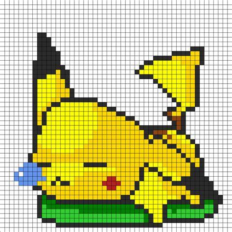 pikachu perler bead template sleepy pikachu perler bead pattern bead sprites