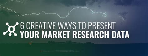 6 creative ways to present your market research data