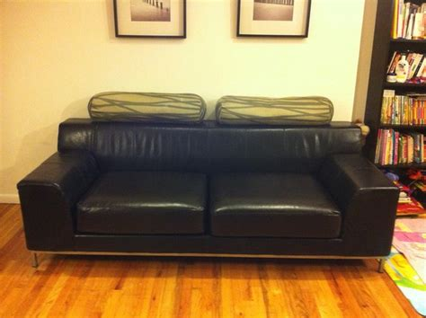 leather slipcovers for sofa leather slipcover for ikea kramfors sofa by comfort works