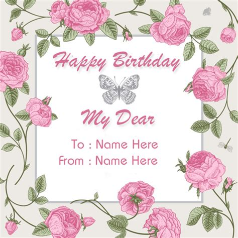 make a birthday card with name create custom birthday wishes greeting card with name
