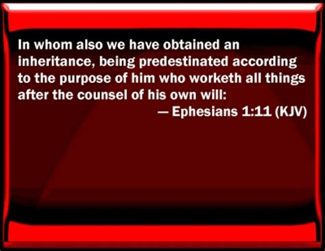 Bible Verse Powerpoint Slides for Ephesians 1:11 Ephesians 1:11