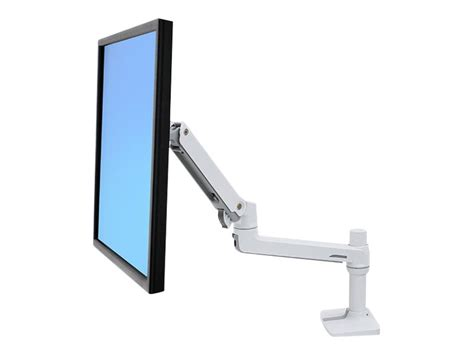lx desk mount lcd arm ergotron lx desk mount lcd monitor arm white 45 490 216
