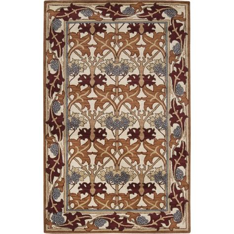 mission style area rugs 5x8 arts crafts mission style ivory wool area rug