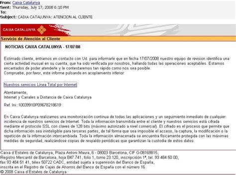 www caixacatalunya es banca online alertamos de intentos de ataques fraudulentos de phishing