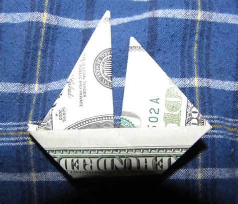 Money Origami Boat