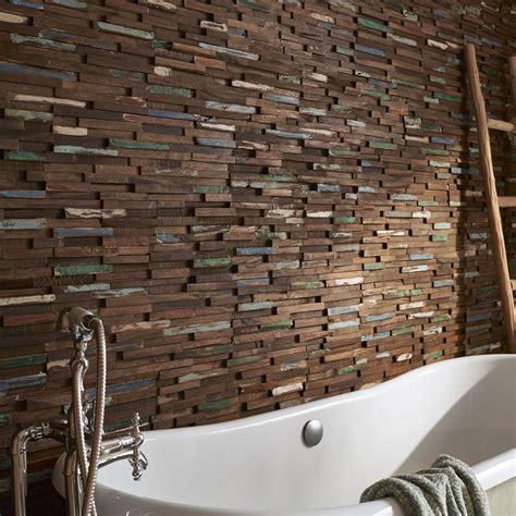 plaquette de parement bois recycl 233 marron gipsy leroy merlin