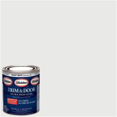 home depot paint for trim glidden trim and door 1 qt bright white gloss interior