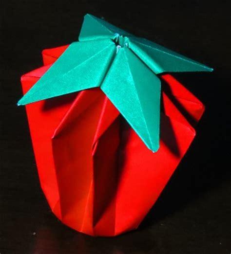origami tomato tomato or strawberry printable origami