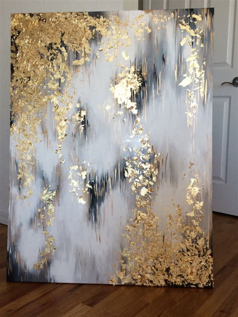 acrylic painting gold items similar to it s an acrylic paint painting that was