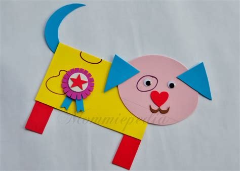 rectangle crafts for mommiepedia dogie with simple shapes