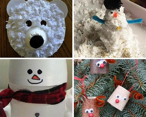 seasonal crafts for recycled crafts for 18 winter crafts