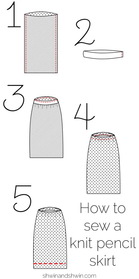how to knit two sides together free knit pencil skirt pattern shwin and shwin