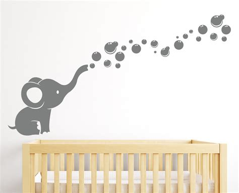 wall stickers baby room elephant bubbles wall decal nursery decor