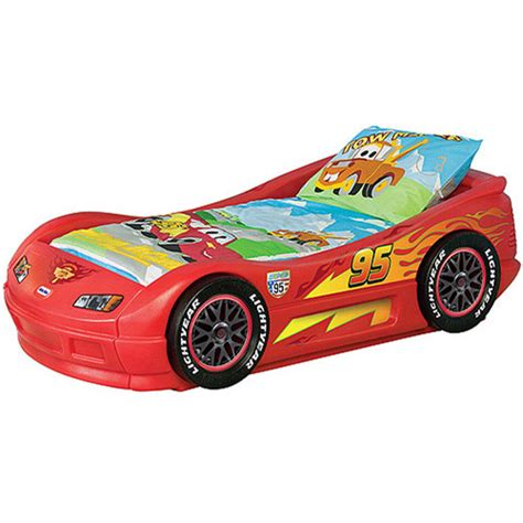 bed cars disney cars lightning mcqueen toddler bed walmart