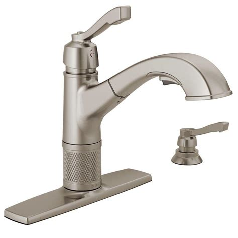 pull out kitchen faucet delta palo single handle pull out sprayer kitchen faucet in stainless steel 467 ss dst the