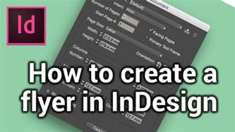 how to create how to create a new page make a flyer in indesign 1 6