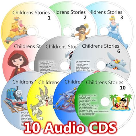 free children books with audio and pictures 100 children stories on 10 cd set classic childrens