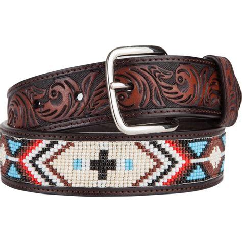 beaded western belts shop s 3d brown beaded belt