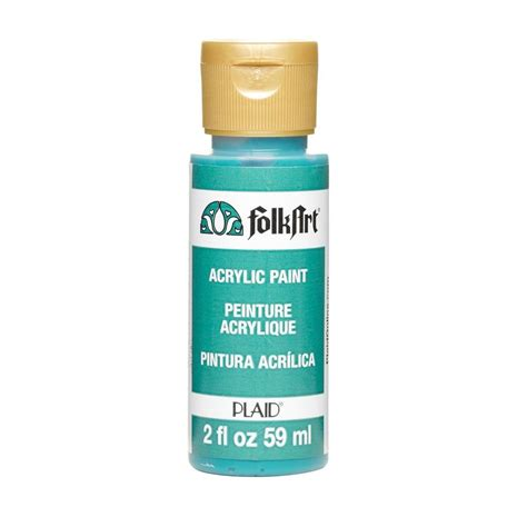 folk acrylic paint australia folkart 2 oz teal acrylic craft paint 405m the home depot