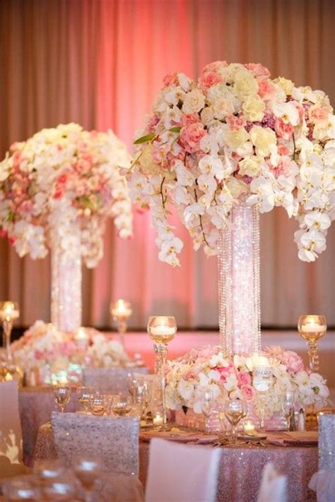 pink decorations best 25 pink wedding centerpieces ideas on