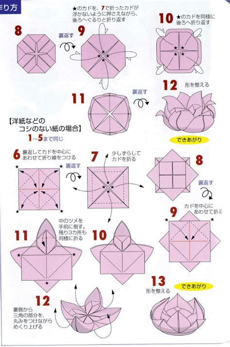 origami flower steps origami lotus flower tutorial paper kawaii