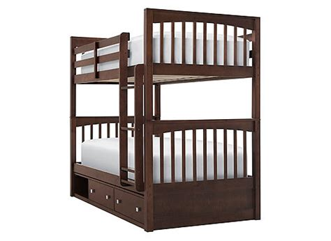 raymour and flanigan bunk beds storage bunk bed chocolate