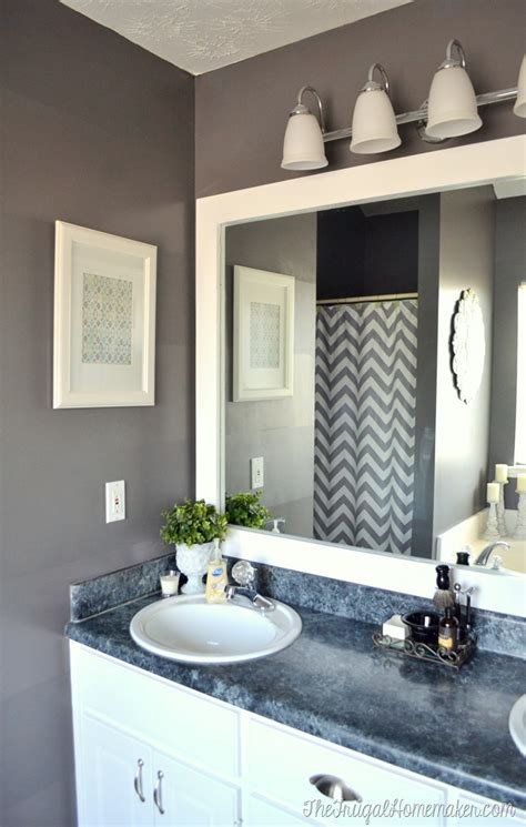 how do you frame a bathroom mirror how to frame out that builder basic bathroom mirror for
