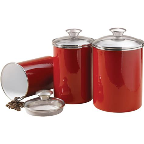 kitchen canisters walmart tramontina 3 covered porcelain canister set