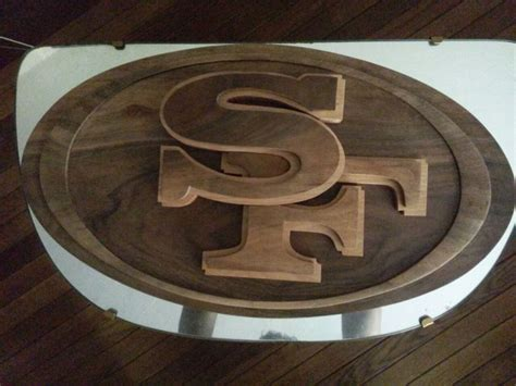 woodworking san francisco made abstract san francisco 49ers logo by derek