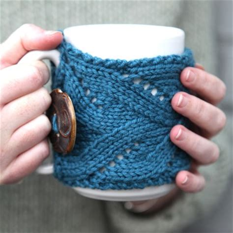 mug cosy knitting pattern valley yarns 510 fancy mug cozy free at webs yarn