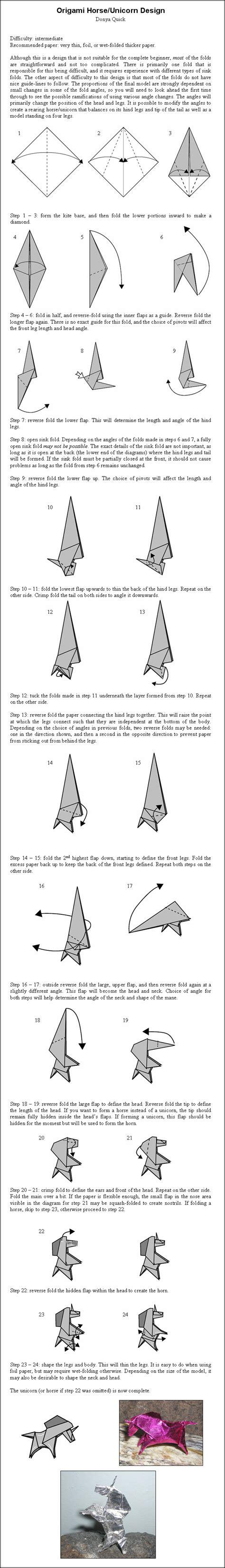 how to make an origami unicorn origami unicorn by donyaquick on deviantart