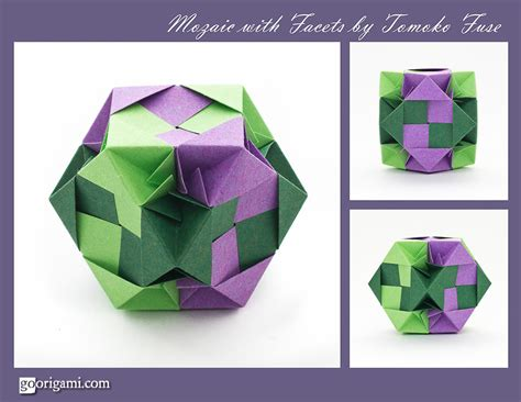 unit origami mozaic with facets modular by tomoko fuse go origami