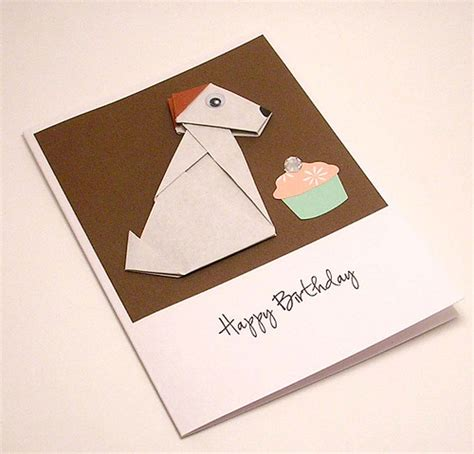 cool origami birthday cards origami puppy birthday card flickr photo